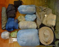 Stuff Sacks help compress and organize the gear in your backpack