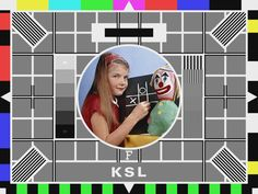 TV testcard! Remember this!!! I wonder what happened to this girl.  Also .....who picked the clown to go on the picture?!