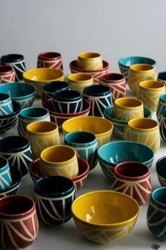Kezemura handmade ceramics wheelthrown mugs and bowls