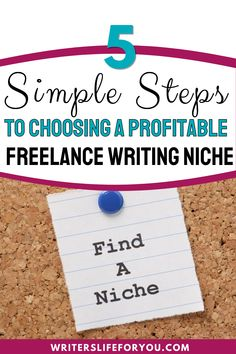 Are you struggling with niching down? This guide will show you the simple steps to choosing a profitable niche for your writing career. | how to choose a profitable writing niche| how to choose a profitable writing niche for your blog| how to pick a writing niche| how to choose a writing niche| most profitable copywriting niches| how to choose the most high-paying freelance niches| how to find your writing niche| freelance writing topics | types of freelance writing Writing Topics, Writing Advice, Business Tips, Online Business, Finding Yourself, Make It Yourself, Creating A Blog, Copywriting, Growing Your Business