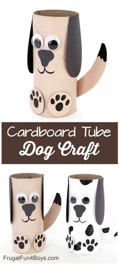 Paper Roll Dog Craft – Super fun craft for kids! Very simple supplies that you probably have on hand. Paper Roll Dog Craft – Super fun craft for kids! Very simple supplies that you probably have on hand. Hand Crafts For Kids, Craft Activities For Kids, Toddler Crafts, Preschool Crafts, Diy For Kids, Animal Crafts Kids, Felt Crafts, Simple Paper Crafts, Simple Craft Ideas