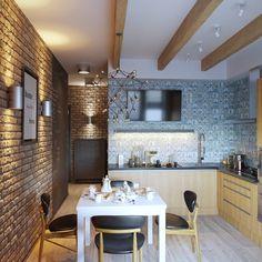 "30 cards in collection ""Кухни лофт"" of user Мария Н. Kitchen Dinning, Wooden Kitchen, Living Room Kitchen, Kitchen Decor, Home Design, Flat Design, Design Ideas, Decoration Bedroom, Decoration Design"