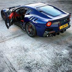 Ferrari F12 TDF painted in Le Mans Blue Photo taken by: @maxige78 on Instagram