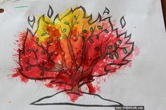 blow painting burning bush