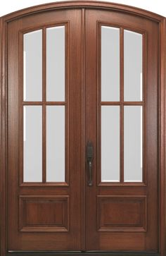 mahogany doors feature true divided lites with clear beveled ig