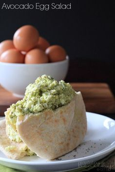 Avocado Egg Salad | www.joyfulhealthyeats.com | #egg #avocado At least once a week for lunch