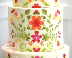 Mexican Embroidery, Custom Cakes, Bakery, Home Decor, Cooking, Personalized Cakes, Kitchen, Decoration Home, Personalised Cakes