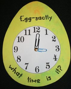 Egg-sactly What Time Is It games. FREE 28-page packet.