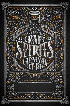 Craft Spirits Carnival by Joel Felix, via Behance
