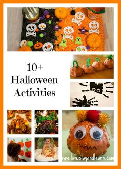 10+ Halloween activities, crafts, and recipes for Toddlers!