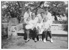 Enrico Caruso and his family