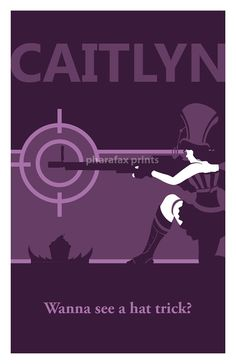 Caitlyn League of Legends Print by pharafax on Etsy, $16.00