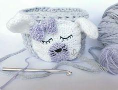 Gyerekszobai #horgolt #horgolttároló #pólófonal  #kidsinterior #bunny #crochetbasket #tshirtyarn