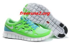 d1e2c603d9c27 Green Apple White Anthracite Chlorine Blue Nike Free Run 2 Men s Running  Shoes  cheap