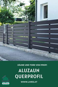 Aluzaun Querprofil Limes, Garden Design, Gardens, Yard, Outdoor Structures, Rustic, Front Yard Fence, Home Exteriors, Wooden Fence