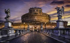 Castel Sant'Angelo ,Roma, Italy. Amazing, awesome, unbeliavable, diferent, emblematic, special places to travel. Lugares increibles, asombrosos, espectaculares, diferentes, emblemáticos, especiales para viajar.