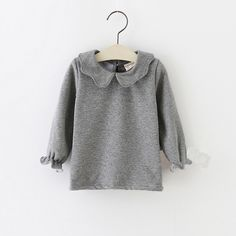 Aliexpress.com : Buy Autumn Winter 100% Cotton Kids Shirt Solid Long Sleeve Baby Girls Gray &White Thicken Top Children Pullovers Tee Kids Clothes from Reliable clothes elderly suppliers on Children,MOM,DAD,FAMAILY Store