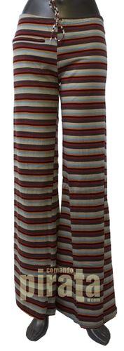 Online Shop - Moda Mujer / Pantalón Estampado Multi Rayas Goma Cintura Algodón. Ropa Urbana Casual Joven. Primavera-Verano.   Comando Pirata® -OUTLET online-Ropa y Complementos Moda Urban Casual Hippie Ethnic