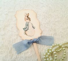 Cupcake Toppers Picks-Peter Rabbit Baby Shower Birthday Party Cupcake Topper…