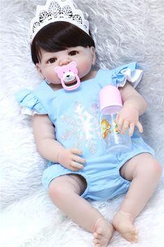 83.72$  Buy here - http://ali055.shopchina.info/go.php?t=32807913449 - 55cm Full Body Silicone Reborn Baby Doll Toys Lifelike newborn girl Princess Doll Child Birthday Gift bebe bonecas Brinquedos 83.72$ #aliexpress
