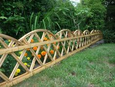 Uncategorized , Outdoor Landscaping Plan Ideas Of Applying Small Garden Fence Designs To Obtain The Neat And Lovely Look : Beautiful Small Bamboo Garden Fence Design Bamboo Garden Fences, Small Garden Fence, Farm Fence, Garden Borders, Backyard Fences, Dog Fence, Outdoor Fencing, Fence Gate, Water Garden