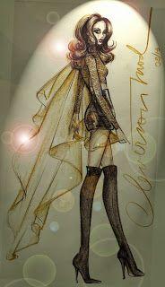 DESENHOS DE MODA: Desenhos de Moda - Look inspirado em Barbarela.