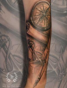 Compass & Traveler Tattoo by: Prima #MaTattooBali #RealisticTattoo #CompassTattoo #BaliTattooShop #BaliTattooParlor #BaliTattooStudio #BaliBestTattooArtist #BaliBestTattooShop #BestTattooArtist #BaliBestTattoo #BaliTattoo #BaliTattooArts #BaliBodyArts #BaliArts #BalineseArts #TattooinBali #TattooShop #TattooParlor #TattooInk #TattooMaster #InkMaster #AwardWinningArtist #Piercing #Tattoo #Tattoos #Tattooed #Tatts #TattooDesign #BaliTattooDesign #Ink #Inked #InkedGirl #Inkedmag #BestTattoo… Ma Tattoo, Piercing Tattoo, Tattoo Shop, Tattoo Studio, Tattoo Master, Ink Master, Fine Line Tattoos, Cool Tattoos, Traveler Tattoo
