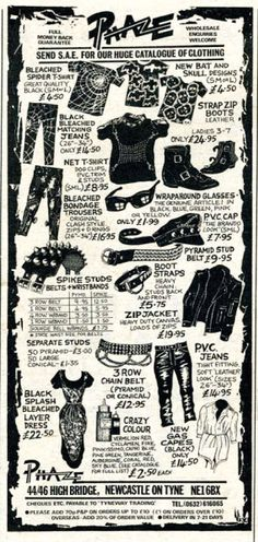 Old Phaze catalog 1980s