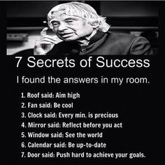 Secret of succes Apj Quotes, Life Quotes Pictures, People Quotes, Wisdom Quotes, Qoutes, Quotations, Humour Quotes, Life Images, Inspirational Quotes About Success