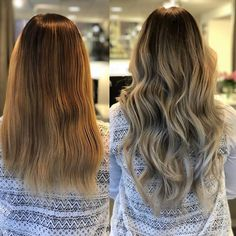 Lovely makeover! 😍 Styled by Isabelle @rapunzel.stockholm In this look we have used 7 packets of Nail Hair in Cendre Ash Blond #14, Dark Ash Blond Ombre #T19/613 and Cendre Ash Blond Mix #14/60 ✨ #rapunzelofsweden