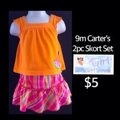 Carter's 9m Infant Girls 2pc Watermelon Skort Set only $3.  Free shipping with $30 purchase.  Thank you for shopping with Baby Girl Heaven