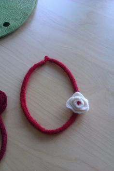 Twitter / UandMeKnits: Felted necklace with flower £10 Gift Boxed