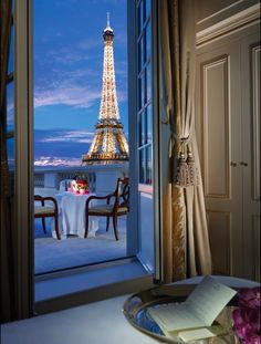 #12 Have a romantic evening with this view. Shangri La Hotel in Paris