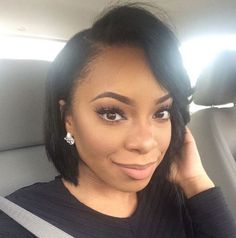Beautiful wigs for black women lace front wigs human hair wigs african american wigs short wigs curly wigs, bob wigs, etc. The same as the hairstyles in the picture. Short Hair Cuts, Short Hair Styles, Natural Hair Styles, Ponytail Styles, Braided Ponytail, Kinky Curly Wigs, Human Hair Wigs, American Hairstyles, Girl Hairstyles