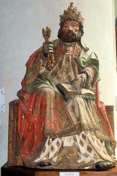 Heilige Petrus, De Meester van de Petrus van Venray, 1520. Sint Petrus' Bandenkerk, Vanray.