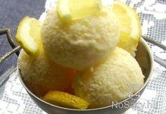 Joghurtos citromfagylalt Ice Cream Freeze, Frozen Yoghurt, Hungarian Recipes, Sorbet, Popsicles, Gelato, Parfait, Smoothies, Food And Drink