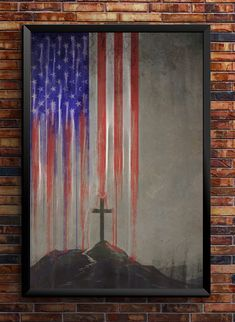 America and Christ! Go together hand and hand! Change it and she will fall! Pray for America! Evil is upon us! Simple Canvas Paintings, Small Canvas Art, Cross Paintings, Acrylic Painting Canvas, Diy Painting, Painting & Drawing, Diy Canvas, Ship Paintings, Canvas Ideas