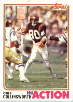 1982 Topps # 45 Cris Collinsworth Cincinnati Bengals Football Card - In Protective Screwdown Display Case! by Topps. $2.88. 1982 Topps # 45 Cris Collinsworth Cincinnati BengalsFootball Card - In Protective Screwdown Display Case!