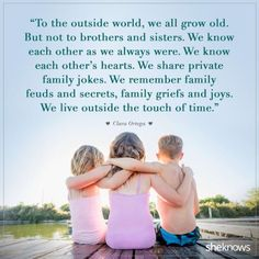 20 sweet quotes about siblings and their lifelong bond Geschwister Zitate Brother N Sister Quotes, Cousin Quotes, Sister Love, Nephew Quotes, Funny Sister, Sibiling Quotes, Bob Marley, Love My Kids Quotes, Quotes About Sisters Love