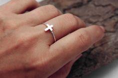 Tiny Cross Ring.