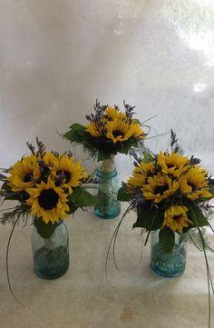 Luce wedding  Sunflowers and lemonium  Junesfloralcompany.com