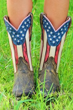 Country Pride Boots ~ From www.shophopes.com/products/country-pride-boots _____________________________ Reposted by Dr. Veronica Lee, DNP (Depew/Buffalo, NY, US)