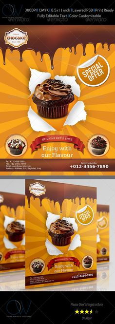 bakery, bar, beverage, cafe, cake, cake shop, candy, chocolate, coffee, coffee shops, cup, cupcake, delicious, design, dessert, drink, eat, flyer, food, ice cream, icecream, leaflet, lollipop, market, meat, promotions, retail, shops, stick, sweet                                                                                                  Flyer Description: Cake Flyer was designed for exclusively corporate and small scale companies. Also it can be used for variety purposes. Click on…