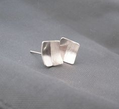 Textured square earrings £20.00