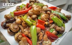 Caramelized Mushrooms with Olive Oil - My Delicious Zeytinyağlı Karamelize Mantar – Leziz Yemeklerim Caramelized Mushroom with Olive Oil - New Recipes, Salad Recipes, Vegetarian Recipes, Dinner Recipes, Healthy Recipes, Turkish Recipes, Ethnic Recipes, Vegetable Drinks, Healthy Eating Tips