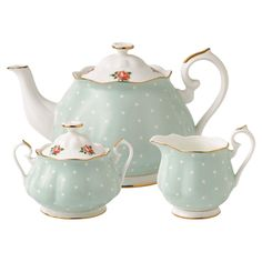 3-Piece Rosalie Bone China Tea Set