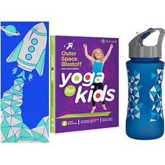 Gaiam® Yoga Kit for Kids, Blue Kits For Kids, Workout Accessories, Yoga For Kids, Outer Space, Cool Things To Buy, Gifts, Blue, Gift Ideas, Products