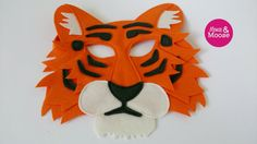 100% wool felt tiger mask by Mouse  Moose on Etsy. A perfect eco friendly option for hours of imaginative, inspired play, pretend play, make believe, or dress up - for a themed party, or a costume. Handmade in Vancouver, Canada.