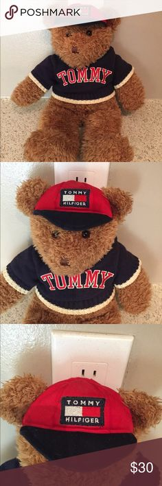 "Vintage Tommy Hilfiger Teddy Bear Sweater Rare Up for sale is a Vintage Tommy Hilfiger Stuffed Teddy Bear Plush Animal 17"". This plush is in great shape for its age. Item will be shipped within one day of payment. Have a good day.   Please review all pictures as it is a vintage bear and hear some stitching and marks as pictured before purchasing. Enjoy!! No longer made Tommy Hilfiger Other"