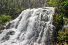 Crooked Falls is an incredible waterfall along the Sigurd Creek Trail in Upper Squamish. The trail is a peaceful and moderately challenging. Vancouver, Places To Go, Trail, Waterfall, Hiking, Backyard, The Incredibles, Outdoor, Walks